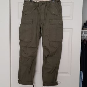 POLO by Ralph Lauren Green Military cargo pants